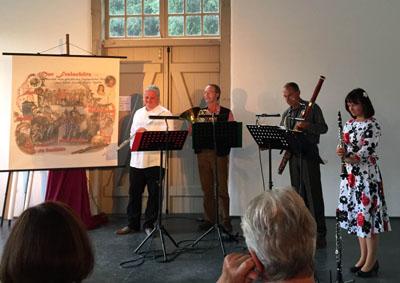 """Das fidele Blasquartett kommt mit dem """"Freischütz"""" in die St. Thomaskirche. Foto: Privat"""