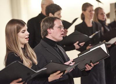 Die Bach-Motetten werden vom Kammerchor St. Marien gesungen und begleitet von Instrumentalisten der Capella St. Marien. Foto: Michael Hänsel