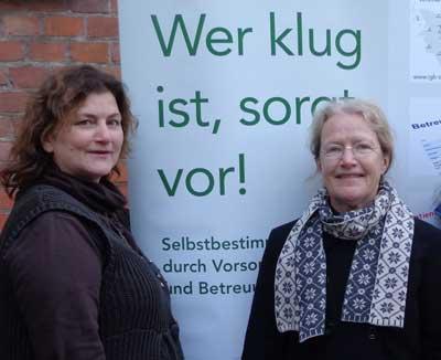Beraterteam des Vereins: Von links: Christine Teiting, Monika Leister. Foto: Veranstalter Betreuungsverein.