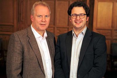 Heiko Steffen (links) hier mit dem Fraktionsvorsitzenden David Jenniches, ist der kulturpolitische Sprecher der AfD-Fraktion.
