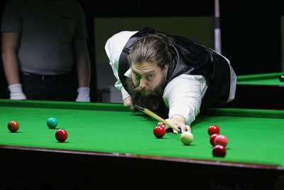 Noch ungeschlagen in der 2. Bundesliga Snooker: Marc Trepte vom BC Break Lübeck. Foto: Verein
