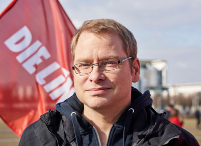 Für den Linken Lorenz Gösta Beutin ist auch der erfrorene Obdachlose in Lübeck ein Opfer einer falschen und unsozialen Politik. Foto: Linke Bundestag