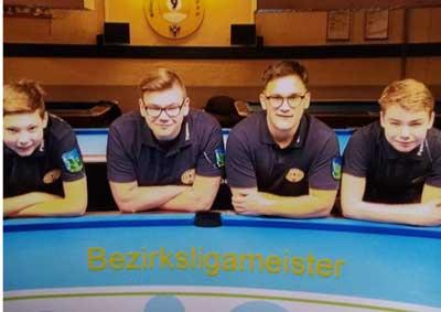 Von links: Finn Böge, Yannik Hepp, Bastian Henkel, Fabian Ochs. Foto: Verein
