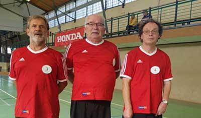 Die RBSG Lübeck (Rehabilitation- und Behinderten-Sportgemeinschaft) fährt mit den Aktiven Frank Bark, Ewald Loppentin, Jürgen Rauch und (Uschi Muster nicht im Bild) nach Hamburg. Foto: Verein