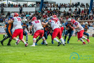 Lübeck Cougars gegen Rostock Griffins ist das Top-Duell des Wochenendes in Deutschlands zweithöchster Spielklasse. Foto: Bjarne Almstedt/HFR