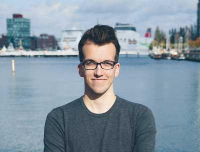 David Morawe, Vorsitzender des Landesverbandes der der Liberalen Hochschulgruppen in Schleswig-Holstein. Foto: Mona Krüger