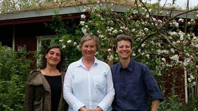 Von rechts: Anna Zerrath, Projektleiterin Rente Krüger und  Elke Schäfer. Foto: Landwege e.V.