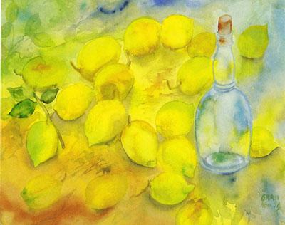 Flasche mit Zitronen von Emil Nolde. Foto: Steidl-Verlag/Kulturstiftung HL