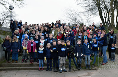 Der TSV Travemünde beteiligte sich mit rund 90 Helfern an der Aktion. Foto: Michel Ahrens