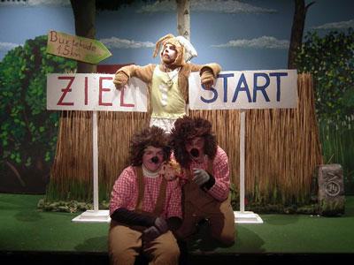 Das sportlich-witzige Klassikmärchen gibt es im Theater am Tremser Teich zu sehen. Foto: Theater am Tremser Teich.
