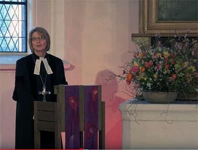 Pröpstin Frauke Eiben predigte beim Online-Gottesdienst. Fotos: Screenshots