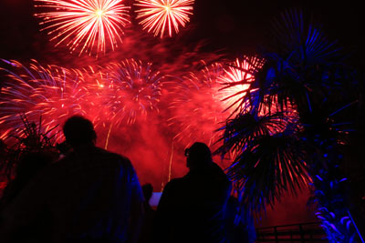 In Scharbeutz wird noch bis einschließlich 1. Januar mit Feuer und Flamme gefeiert. Foto: www.luebecker- bucht-ostsee.de
