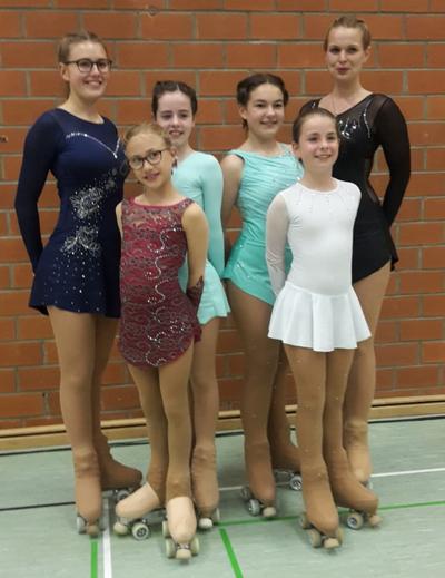 Von links nach rechts: Lea Freiberg, Malena Schultz, Jule Groenow, Chiara Noack, Lisa Stanitz und Silja Meynberg. Foto: Dörte Freiberg.