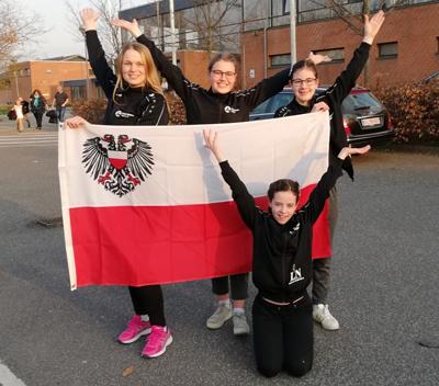 Foto von links nach rechts:  Silja Meynberg, Lea Freiberg, Larissa Groenow,  Vorne: Jule Groenow.     Foto: Nicole Groenow