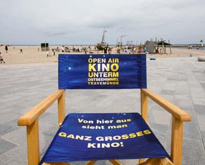 Ab 14. August wird der Strand wieder zum Open-Air Kino. Foto: JW/Archiv
