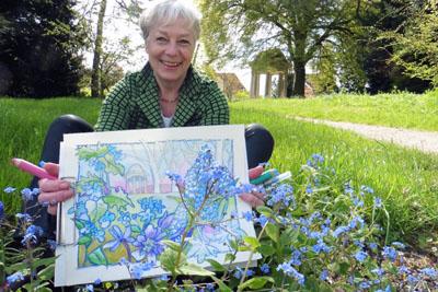 Die Künstlerin Ulrike Plötz bietet ab kommender Woche Sketching-Walks an. Foto: Veranstalter