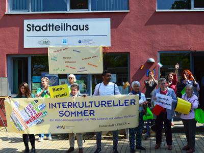 Im Rahmen des Interkulturellen Sommers bietet das Stadtteilhaus St. Lorenz-Süd im Hansering zahlreiche Aktionen an. Foto: Gemeindediakonie.
