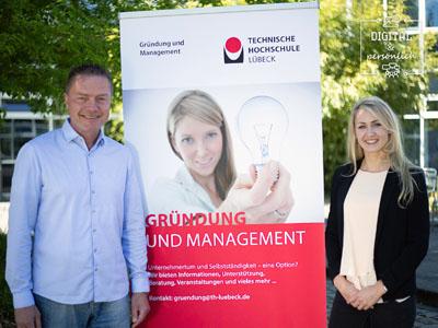 Die Initiatoren des Projekts Marleen Jennifer Wohlert und Professor Jürgen Klein ziehen eine positive Bilanz. Foto: TH Lübeck