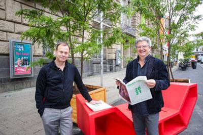 Stefan Vladar und Pit Holzwarth stellten ihre Pläne vor.Foto Theater Lübeck (c) Lutz Roeßler
