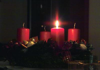 Am Sonntag wird der 1. Advent gefeiert.