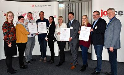 Am Mittwoch wurden vier Betriebe für ihre Ausbildung ausgezeichnet. Foto: Agentur für Arbeit