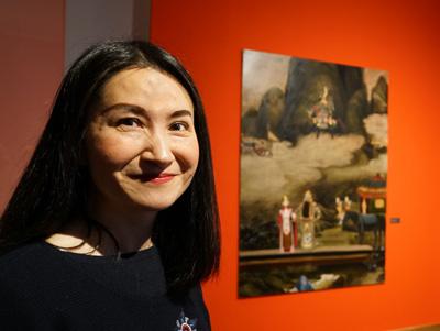 Die Malerei der Chinesin Haiying Xu ist im St. Annen Museum ausgestellt. Foto: JW