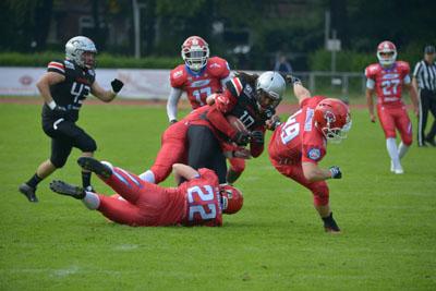 Die Cougars haben sich den zweiten Sieg gegen die Hamburg Huskies geholt. Foto: Bjarne Almstedt