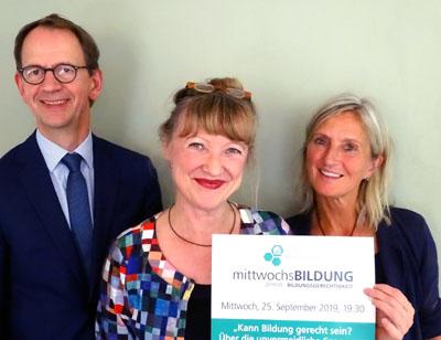 Stephan Cosmus, Antje Peters-Hirt und  Dorothea Wolf haben das Programm vorbereitet. Foto/O-Ton: Harald Denckmann