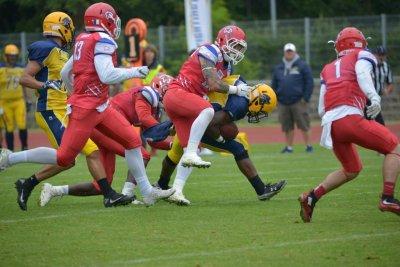 Die Cougars gewannen am Wochenende gegen Elmshorn. Foto: Bjarne Almstedt/Verein