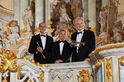 Ludwig Güttler, Friedrich Kircheis und Thomas Irmen gastieren am Mittwoch im Dom. Foto: Jörg Riethausen