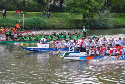 Die Lübecker erpaddelten bei 60 Startern den sechsten Platz. Foto: André Pohlann