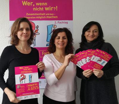 Von links: Melanie Wienicke, Parva Soudikani, Katja Nowroth  Foto: Kerstin Merk.
