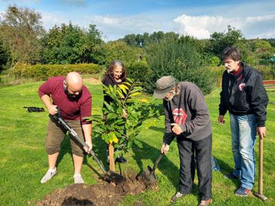 Die Ernst Puchmüller Gesellschaft beteiligt sich in ihrem Sozialgarten an der Pflanzaktion.