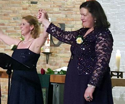 Maria Bulgakova und Andrea Krumkühler singen am Sonntag in der Essigfabrik. Foto: Veranstalter