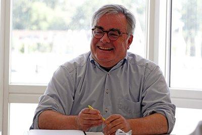 Thomas-Markus Leber leitete den Stammtisch. Foto: Karl Erhard Vögele