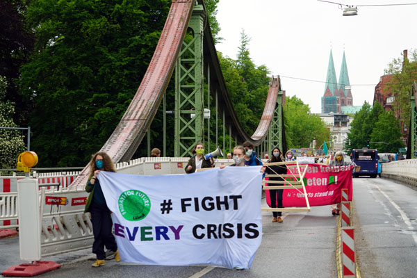 Fridays For Future plant ein mehrtägiges Klimacamp am Holstentorplatz. Foto: JW/Archiv