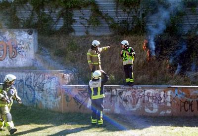 An der B207 brannte das Gras auf einer Länge von zehn Meter. Foto: privat