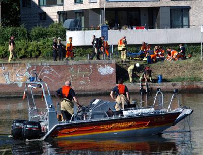 Drama im Elbe-Lübeck-Kanal: Am Montagnachmittag starb dort ein Schwimmer. Fotos: VG