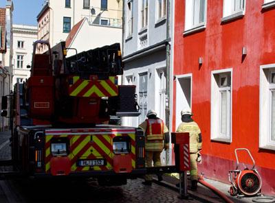Die Feuerwehr konnte schnell Entwarnung geben. Fotos: VG