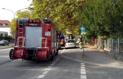 Die Feuerwehr war schnell vor Ort und konnte eine Ausbreitung des Brandes verhindern. Foto: Stefan Strehlau