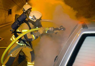 Die Feuerwehr zieht ein positives Fazit der Übung. Fotos: Feuerwehr
