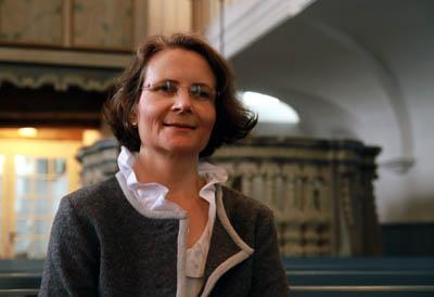 Pastorin Christine Grossmann lädt zum Gottesdienst in französischer Sprache ein. Foto: Steffi Niemann/Archiv