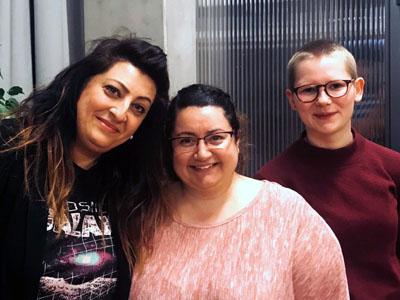 Angela Fiorenza, Mehtap Kartal und Isabel Scholz.
