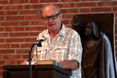 Hans Dampf an allen Orten. Auch in der Waldkirche begrüßte Nils Landgren die Musikfans. Fotos: Karl Erhard Vögele