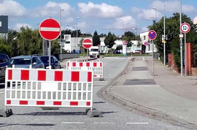 Der Baubeginn steht jetzt fest: Ab 8. Januar ist die Brücke zwischen Nordtangente und Posener Straße voll gesperrt. Foto: Oliver Klink/Archiv