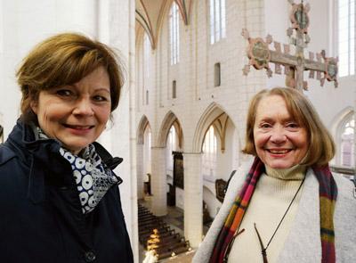Dr. Dagmar Täube, Leiterin der Katharinenkirche, und Karin Peters, Leiterin des ehrenamtlichen Museumteams, stellten am Mittwoch die Neuerungen vor. Fotos: JW