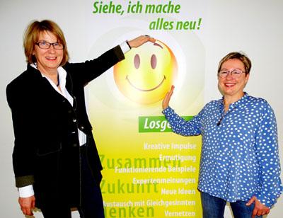 Die Pröpstinnen Frauke Eiben und Petra Kallies gehen den Open Space mit Zuversicht an. Foto: Harald Denckmann