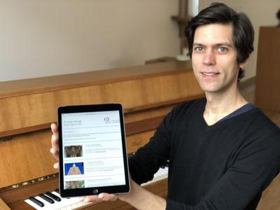 Kirche klingt: Tim Karweick kuratiert den neuen Newsletter zum Thema Kirchenmusik in und um Lübeck. Foto: Ines Langhorst