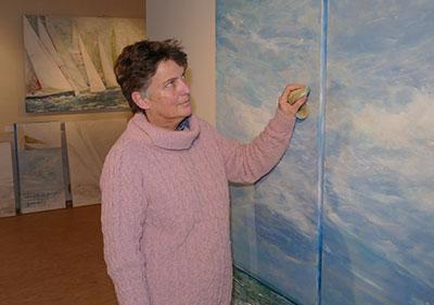 Frauke Klatt zeigt ab Dienstag ihre neuen Segel-Bilder. Foto: Veranstalter