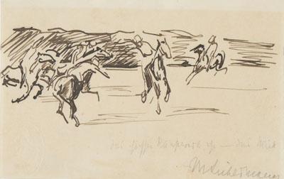 Polospieler von Max Liebermann um das Jahr 1902. Bild: Die Lübecker Museen / Museum Behnhaus Drägerhaus